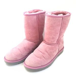 UGG Australia Classic Short RARE Pink Orchid Boots